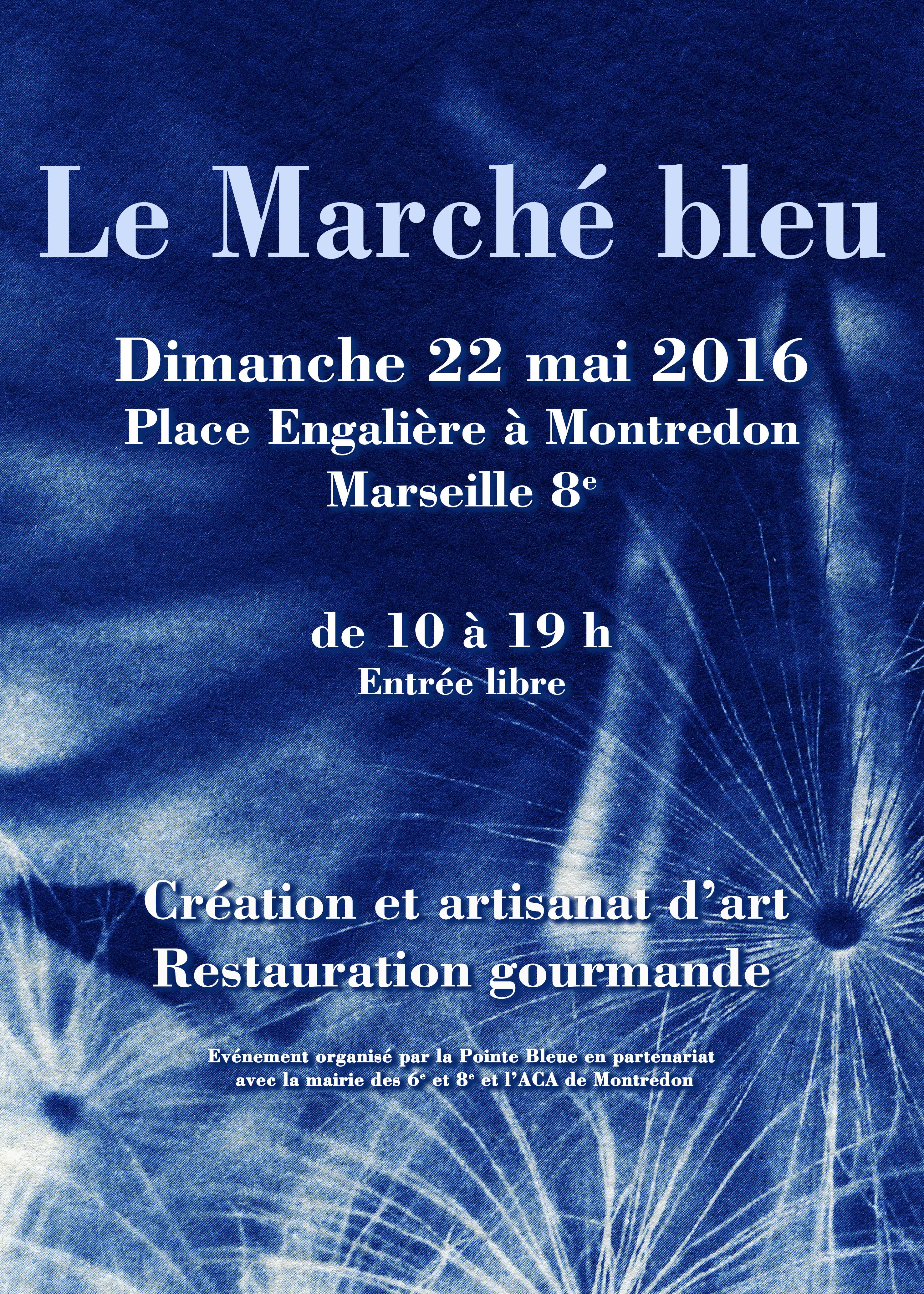 Affiche Marché Bleu 2016