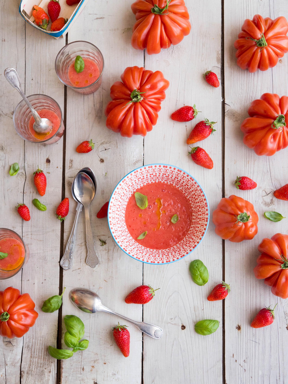 Gaspacho tomate fraise